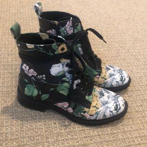 Steve Madden Floral Officer Boots